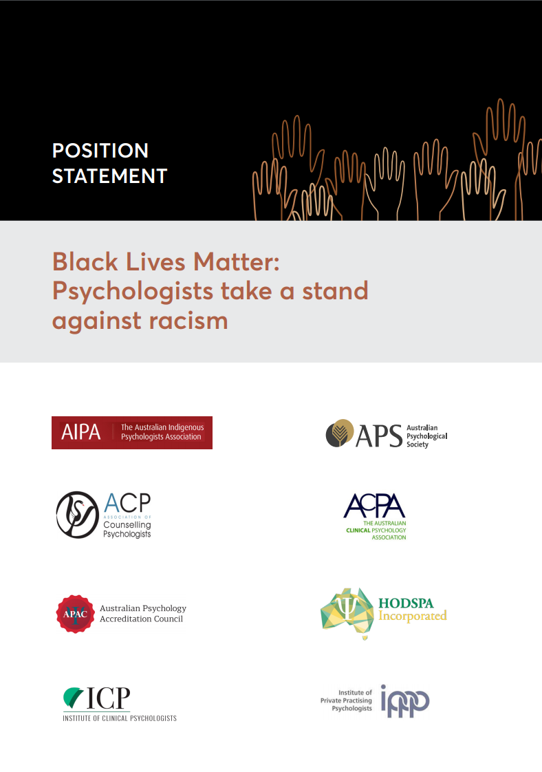 BLM - Psychologists take a stand against racism